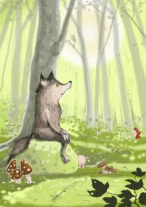 arthur-geesing-wolfje-tekening